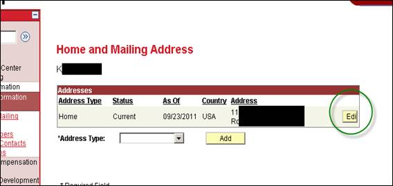 Address screen shot